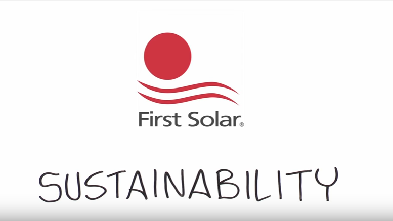 First Solar: A leader in sustainable energy|