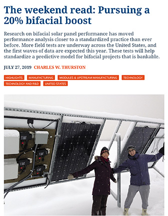 The Weekend Read: Pursuing a 20 percent Bifacial Boost|PV Magazine | Charles W. Thurston