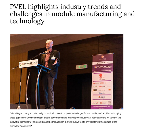 PVEL highlights industry trends and challenges in module manufacturing and technology|PV Tech | Finlay Colville